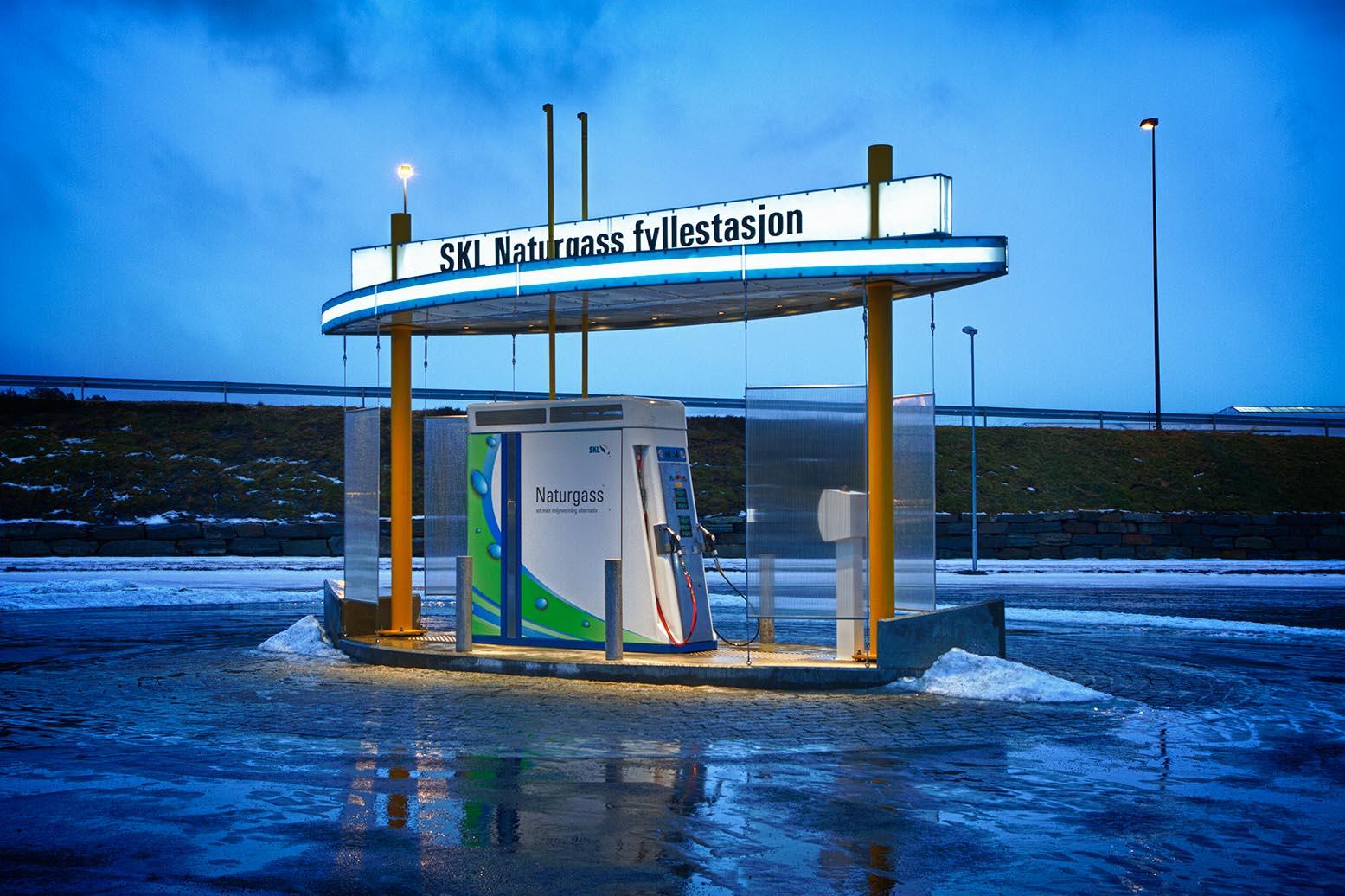 CNG tankstation til påfyldning af personbiler - Nanobox SKL Heiane Vest